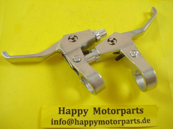 HMParts - Pocket Bike Mini Cross - Performance Bremshebel Re/Li silber