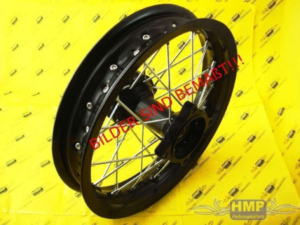 HMParts - Pit Bike Dirt Bike Cross Alu Felge eloxiert 1.85x12 - Typ2 15mm