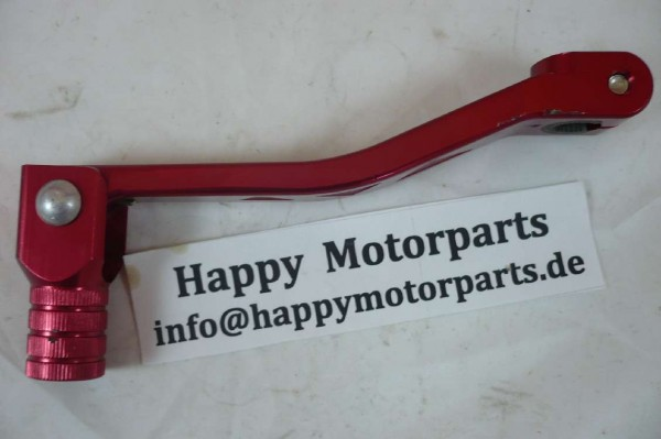 HMParts - Dirt Bike Pit Bike - Performance Alu Schalthebel Typ5 Rot