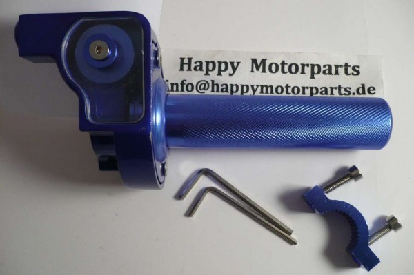 HMParts - Dirt Bike Pit Bike - Performance Race Kurzgasgriff Alu blau